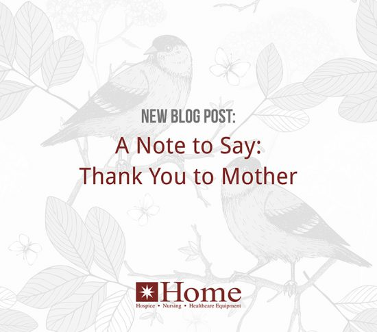 A Note to Say: Thank You to Mother